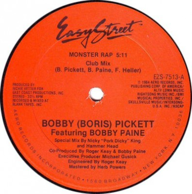 Bobby Pickett Featuring Bobby Paine - Monster Rap