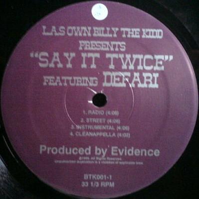 L.A.'s Own Billy The Kidd - Say It Twice / Randomly I Aim