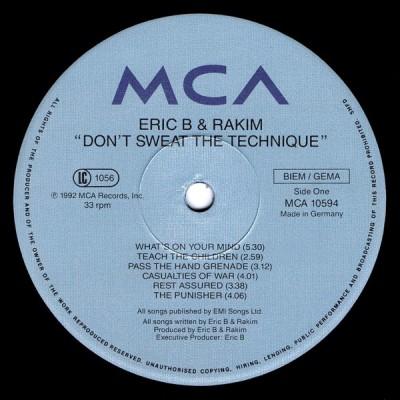 Eric B. & Rakim - Don't Sweat The Technique