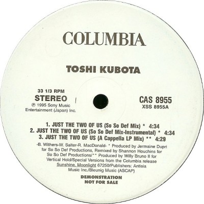 Toshinobu Kubota - Just The Two Of Us