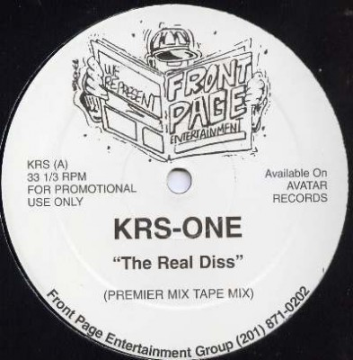 KRS-One - The Real Diss / Gun Play