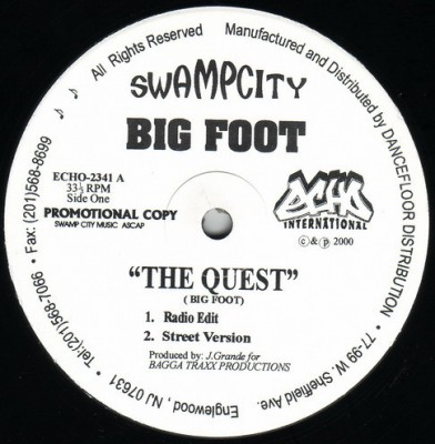 Big Foot - The Quest / BX Confidentials / Altered States