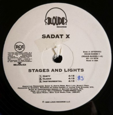 Sadat X - Stages & Lights / Hang 'Em High