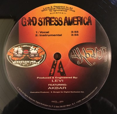 Akbar - God Stress America / Antidote