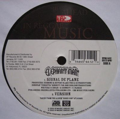 Elephant Man - Signal De Plane / Cock Up Your Bumper (Remix)