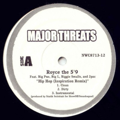 "Royce Da 5'9"" / Method Man - Hip Hop (Inspiration Remix) / What's Happening (Showoff Remix)"