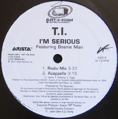 T.I. Featuring Beenie Man - I'm Serious