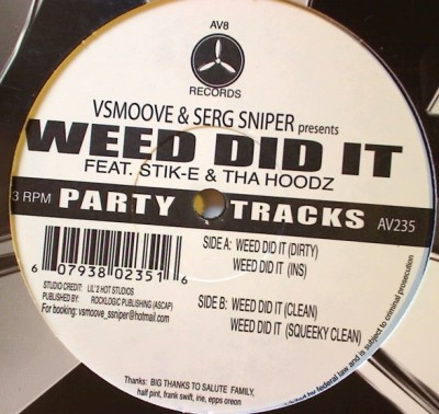V. Smoove - Weed Did It