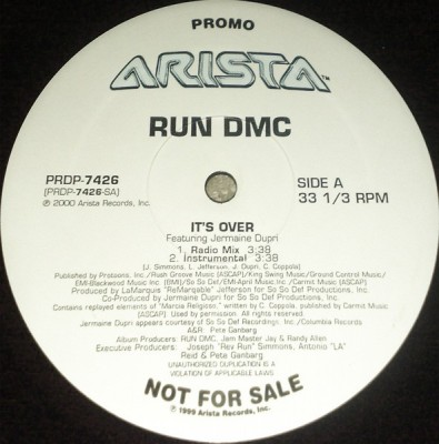 Run-DMC - It's Over