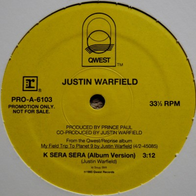 Justin Warfield - K Sera Sera / Dip Dip Divin'