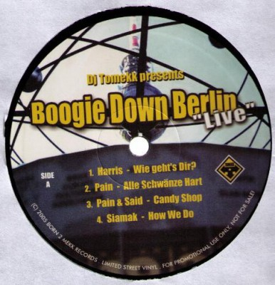 "DJ Tomekk - DJ Tomekk Presents Boogie Down Berlin ""Live"""