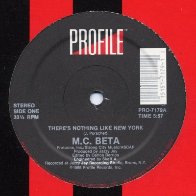 M.C. Beta - There's Nothing Like New York
