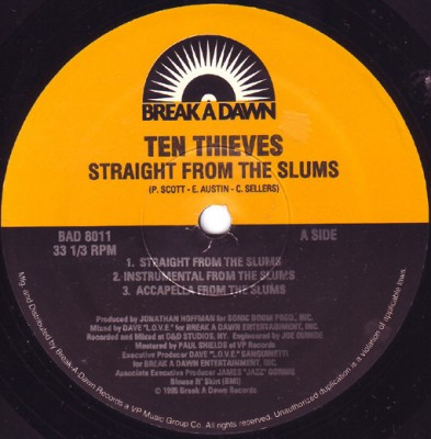 Ten Thieves - Straight From The Slums