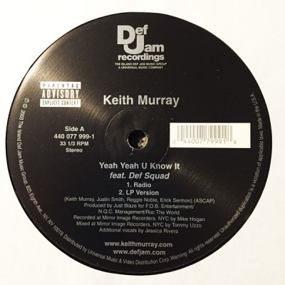 Keith Murray - Yeah Yeah U Know It