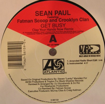 Sean Paul - Get Busy (Clap Your Hands Now Remix)