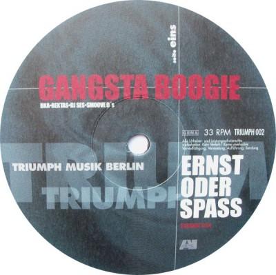 Gangsta Boogie - Ernst Oder Spass