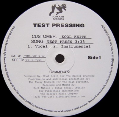 Kool Keith - Test Press