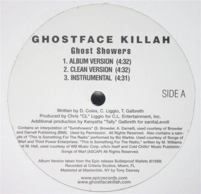 Ghostface Killah - Ghost Showers / Ice / Hilton