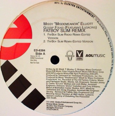 Missy Elliott - Gossip Folks (Fatboy Slim Remix)