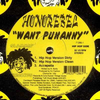 HonoRebel - Want Punanny
