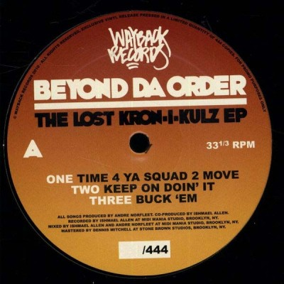 Beyond Da Order - The Lost Kron-I-Kulz EP