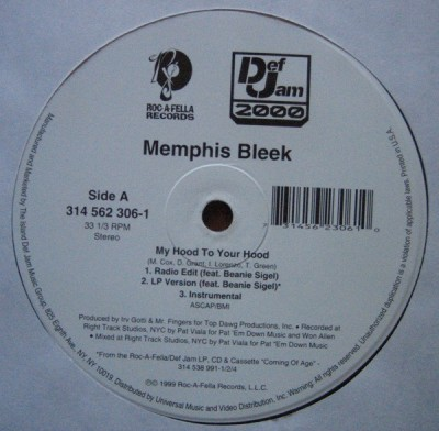 Memphis Bleek - My Hood To Your Hood
