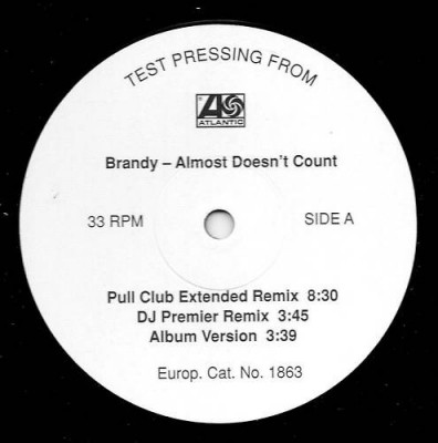Brandy - Almost Doesn't Count
