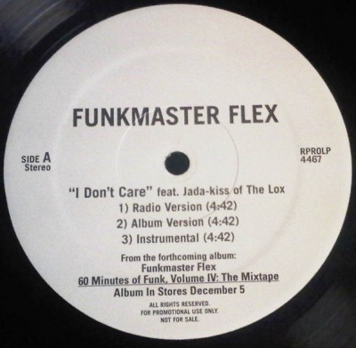 Funkmaster Flex - I Don't Care / Did She Say (So So Def Remix)