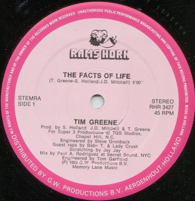 Tim Greene - The Facts Of Life