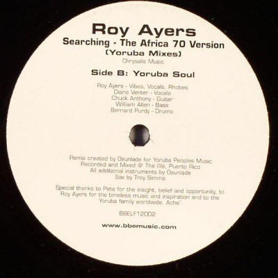 Roy Ayers - Searching - The Africa 70 Version (Yoruba Mixes)