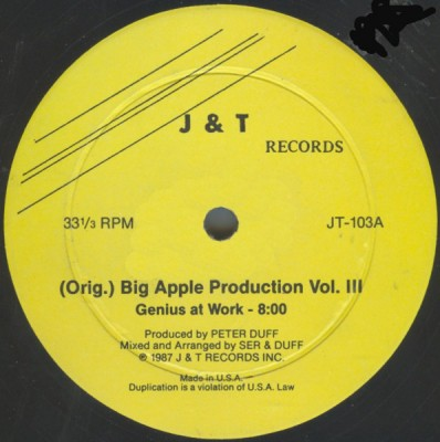 Various - (Orig.) Big Apple Production Vol. III