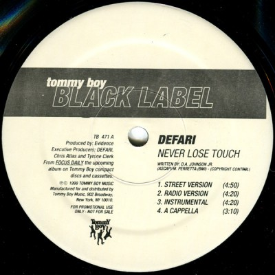 Defari - Never Lose Touch / People's Choice