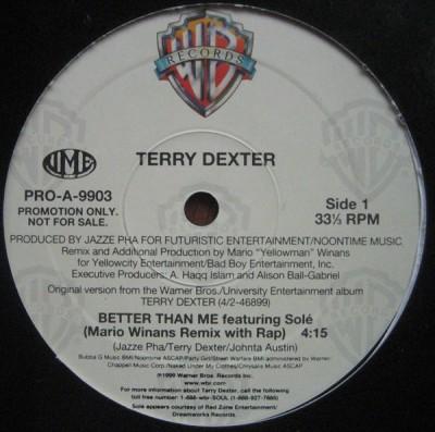 Terry Dexter Featuring Solé - Better Than Me