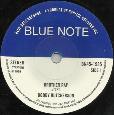 Bobby Hutcherson - Brother Rap / California Soul