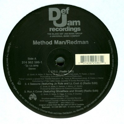 Method Man & Redman - Y.O.U. / 4 Seasons / Run 4 Cover