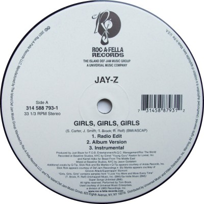 Jay-Z - Girls, Girls, Girls / Takeover