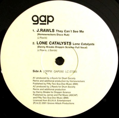 J. Rawls / Lone Catalysts - Rapattack Vol.2