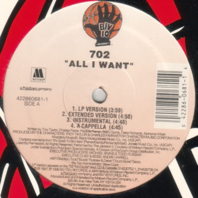702 - All I Want / Get It Together (W/ Remixes)