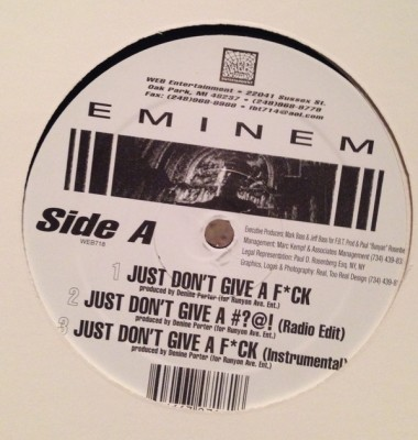 Eminem - Just Don't Give A F*ck
