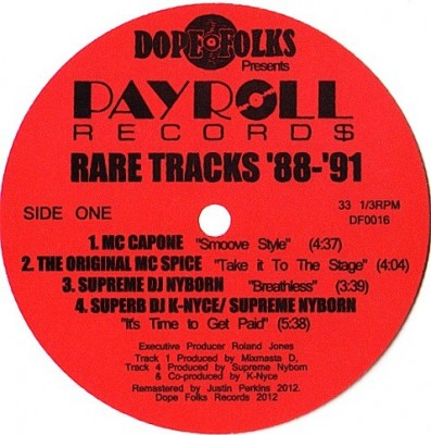 Various - Payroll Record$ (Rare Tracks '88-'91)