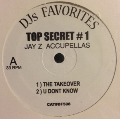 Jay-Z - Top Secret # 1 Jay-Z Accupellas