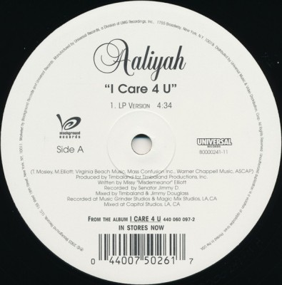 Aaliyah - I Care 4 U / Don't Worry