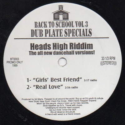 Various - Back To School Vol 3 Dub Plate Specials
