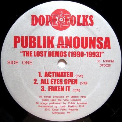 Publik Anounsa - The Lost Demos (1990-1993)