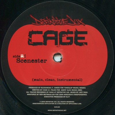 Cage - Scenester / Left It To Us