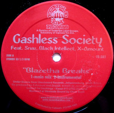 Cashless Society - Blazetha Breaks / Place For A Wife
