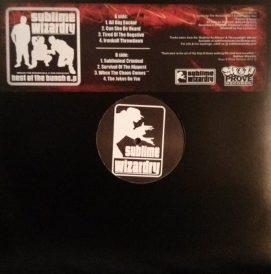 Sublime Wizardry - Best Of The Bunch E.P