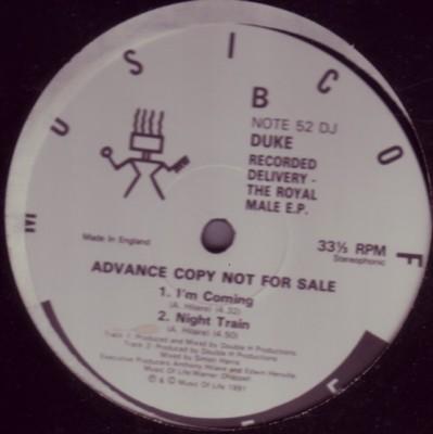 MC Duke - Recorded Delivery - The Royal Male E.P.