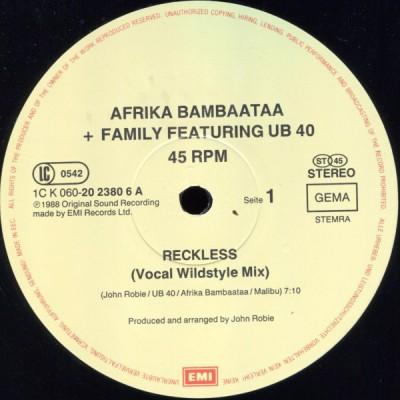 Afrika Bambaataa & Family - Reckless