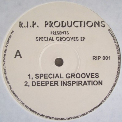 R.I.P. Productions - Special Grooves EP